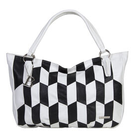 Bulaggi Collection - Billie - Graphic Print Shopper Shoulder Handbag (36x29x10 cm) - Black and White