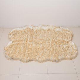 Luxury Edition Shaggy Pile Super Deep Faux Sheep Skin Rug Size 180x100 Cm Beige
