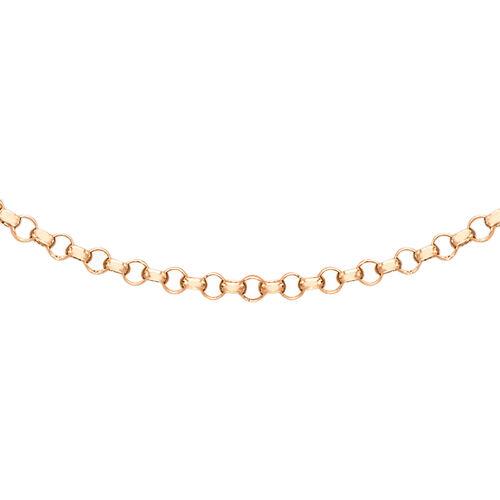 JCK Vegas Collection 9K Rose Gold Round Belcher Chain (Size 18), Gold wt. 2.60 Gms.
