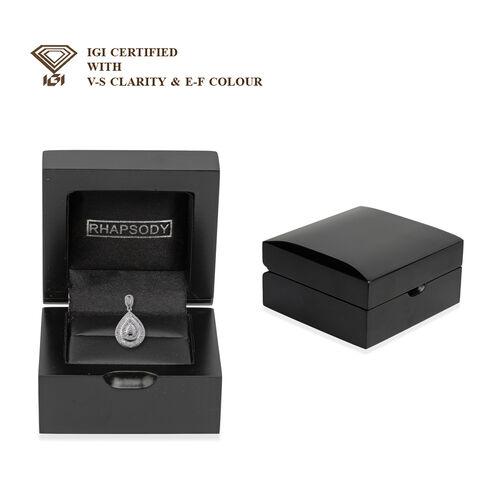 RHAPSODY 950 Platinum IGI Certified Diamond (E-F/VS) Pendant 1.00 Ct, Platinum wt 6.40 Gms.