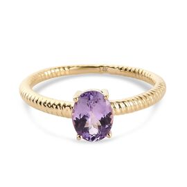 14K Yellow Gold AA Pink Tanzanite Ring 1.15 Ct.