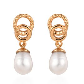 Freshwater Pearl Earrings (with Push Back) in 14K Gold Overlay Sterling Silver