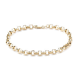 Royal Bali Collection Rolo Bracelet in 9K Gold 7.5 Inch