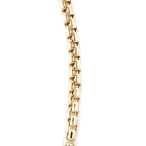 Royal Bali Collection 9K Yellow Gold Box Belcher Necklace (Size 18), Gold wt 9.28 Gms.