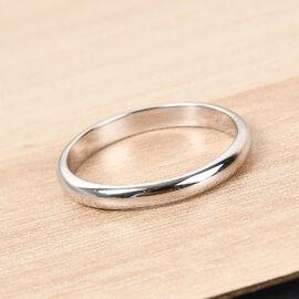 9K White Gold Band Ring