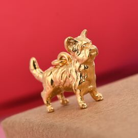 Charmes De Memoire 14K Gold Overlay Sterling Silver Bulldog Charm