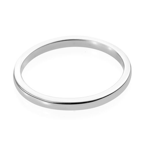 2mm Plain Wedding Band Ring in 9K White Gold 1.55 grams