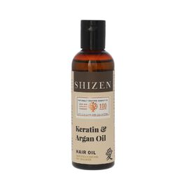 SHIZEN Keratin & Argan Hair Oil 100 ml) 100% Organic -Healthy and Shiny Hair