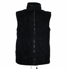 Pure and Natural Black Colour Fleece Lined Gilet (Size M, 14-16)