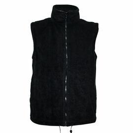 Solid Black Ladies Gilet Fleece Jacket