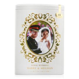AHMAD TEA Harry and Meghan Wedding Tea Tin White