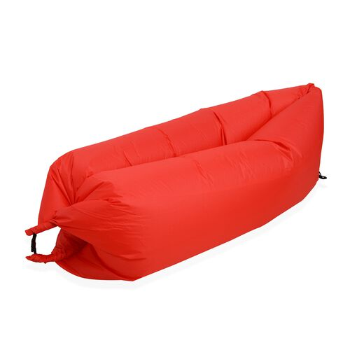 Red Colour Self Inflating Air Lounger with Carry Pouch (Size 230x70 Cm)