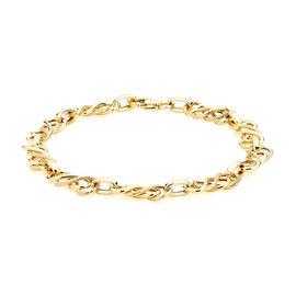 Italian Made 9K Yellow Gold Celtic Knot Bracelet (Size 7.5), Gold wt 3.70 Gms.
