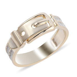 New York Close Out Deal - 9k Yellow Gold Buckle Ring