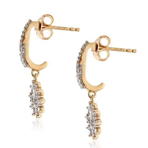 Designer Inspired-Diamond (Rnd) Earrings (with Push Back) in 14K Gold Overlay Sterling Silver 0.500 Ct.