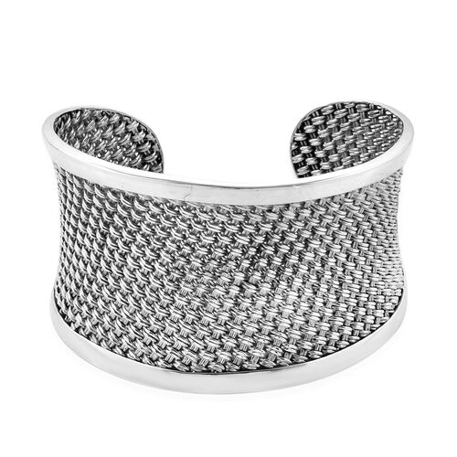 Cuff Bangle in Sterling Silver 62.48 Grams 7.5 Inch