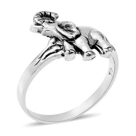 Sterling Silver Elephant Ring, Silver wt 3.37 Gms.