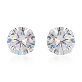 10K White Gold Cubic Zirconia Earrings