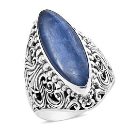 Royal Bali Collection - Himalayan Kyanite (Mrq 27x9 mm) Ring in Sterling Silver 11.16 Ct, Silver wt