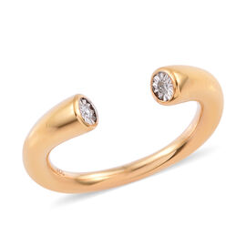 Diamond Open Band Ring in Gold Plated Sterling Silver 4.50 Grams