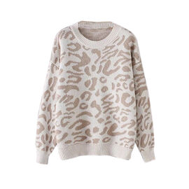 Kris Ana Animal Print Jumper One Size (8-16) - Cream
