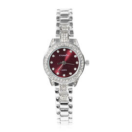 ETERNITY - Ladies Swarovski Studded Watch With Violet Colour Dial in Silver Tone