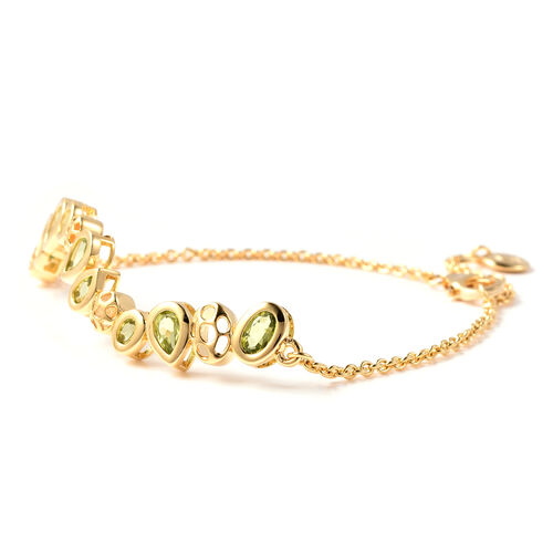 RACHEL GALLEY Misto Collection - Hebei Peridot Bracelet (Size 8) in Yellow Gold Overlay Sterling Silver 2.76 Ct.