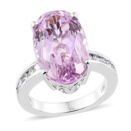 ILIANA 18K White Gold AAA Kunzite (Ovl 8.75 Ct), Diamond (SI/G-H)  Ring 9.000 Ct.