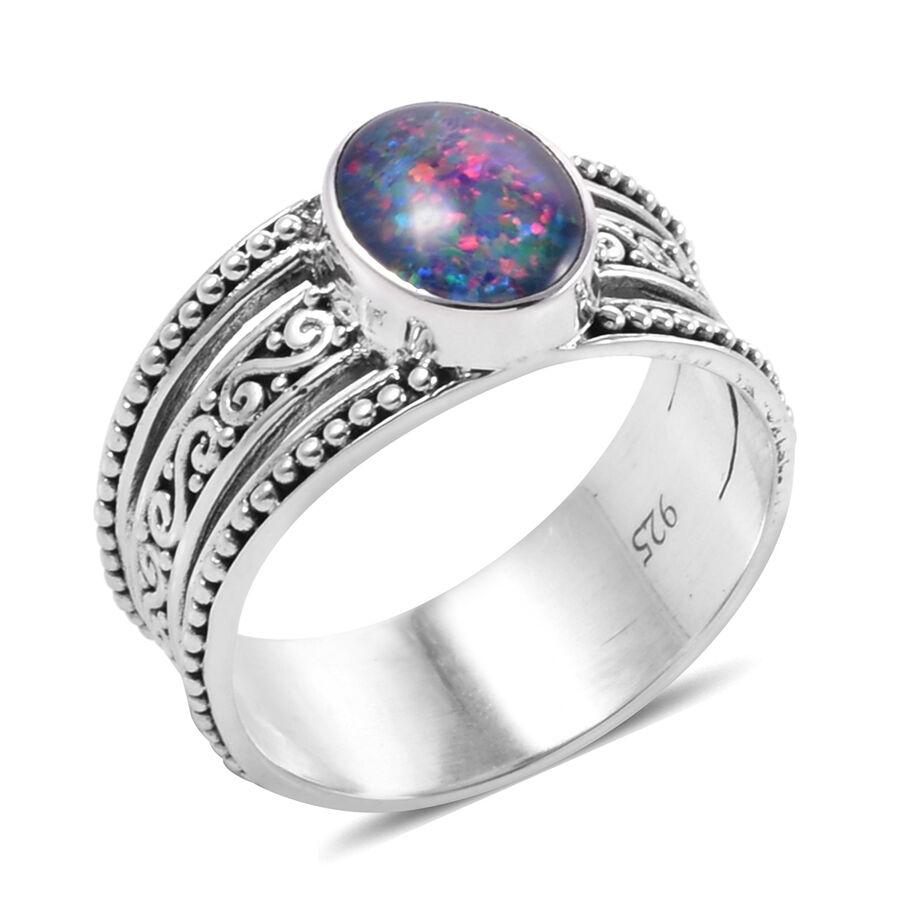 644903e86a1fb Royal Bali Collection - Australian Boulder Opal Ring in Silver 4.6 Gms -  M3126342 - TJC