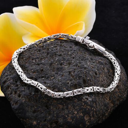Royal Bali Collection - Sterling Silver Borobudur Bracelet (Size 7.5), Silver wt. 11.95 Gms