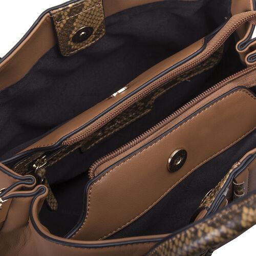 Bulaggi Collection - Anemoon Handbag/Shoulder Bag with Detachable and Adjustable Strap (Size 30x21x14cm) - Camel