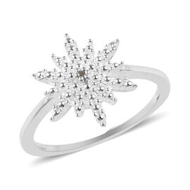 Diamond Twinkling Star Ring in Silver