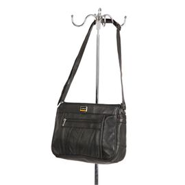 100% Genuine Leather Hand and Shoulder Bag (Size 22x29x10cm) with Zip