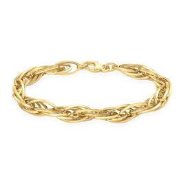 Italian Made 7.5 Inch Prince of Wales Bracelet in 9K Gold 6.90 Grams