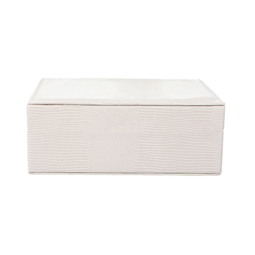 Monster Deal- Set of 2 - Multi Purpose Two-Tier Lizard Skin Pattern Jewellery Box in Taupe Colour