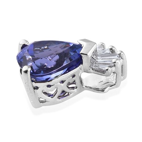 RHAPSODY 950 Platinum 1.80 Ct AAAA Tanzanite Pendant with Diamond (VS/F)