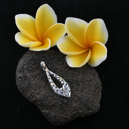 Royal Bali Collection 18K Yellow Gold and Sterling Silver Pendant