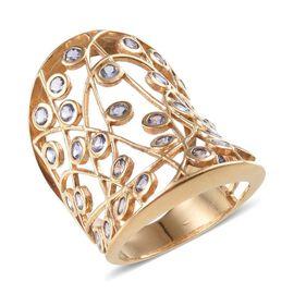 Tanzanite (Rnd) Ring in 14K Gold Overlay Sterling Silver 2.500 Ct.