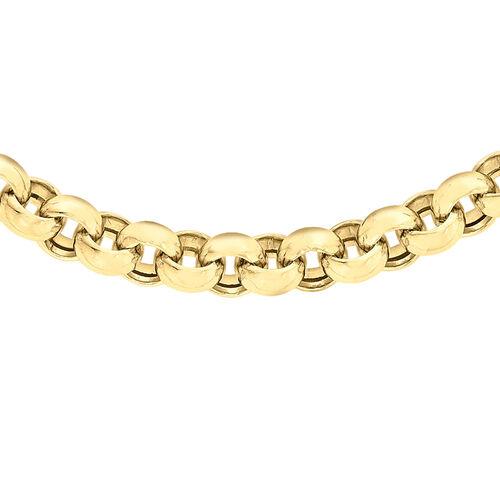 Close Out Deal 9K Y Gold Belcher Necklace (Size 17), Gold wt 17.50 Gms.