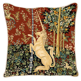 Signare Tapestry Art - Cushion Cover Inspired by Lady and Unicorn (45x45cm)