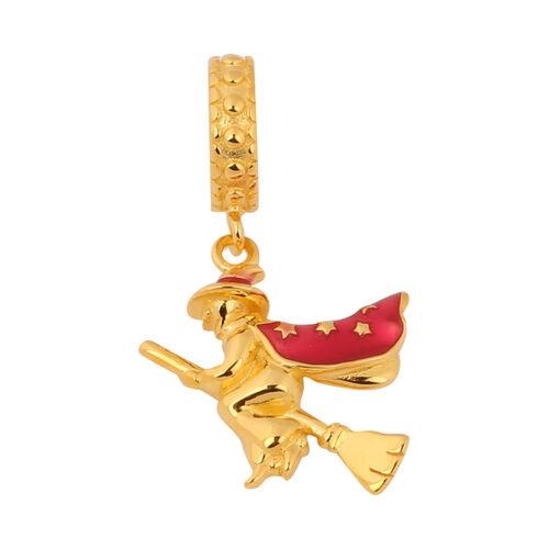 Charmes De Memoire - Yellow Gold Overlay Sterling Silver Enamelled Charm/Pendant