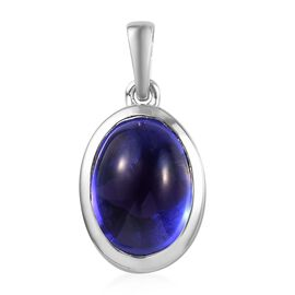 HeirLoom Collection-RHAPSODY 950 Platinum AAAA Tanzanite Solitaire Pendant 5.65 Ct.