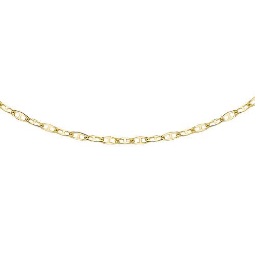14K Yellow Gold Mini Flat Rambo Chain (Size 18)