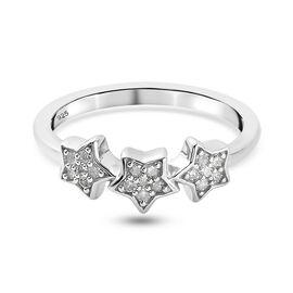 GP Celestial Dream Collection - Kanchanaburi Blue Sapphire and Diamond Ring in Platinum Overlay Ster