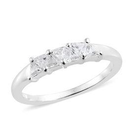 J Francis - Sterling Silver (Tgl) Ring Made With SWAROVSKI ZIRCONIA