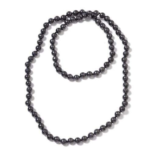 276.50 Ct Shungite Beaded Necklace 30 Inch