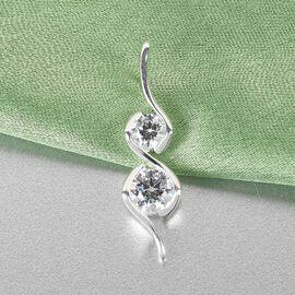 J Francis - Sterling Silver Pendant Made with SWAROVSKI ZIRCONIA 1.330 Ct.