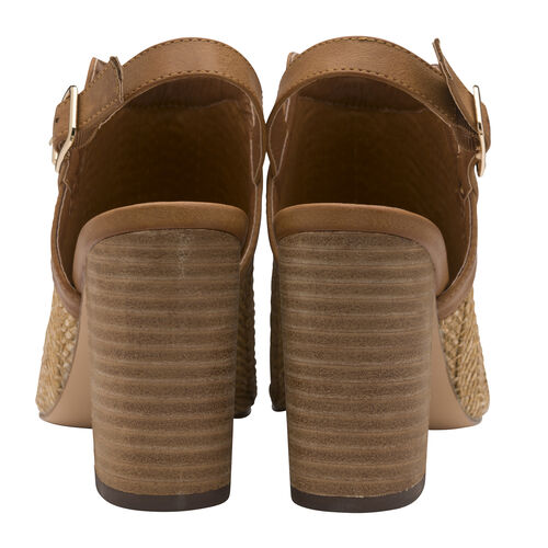 Ravel Clifton Heeled Sandals (Size 3) - Tan