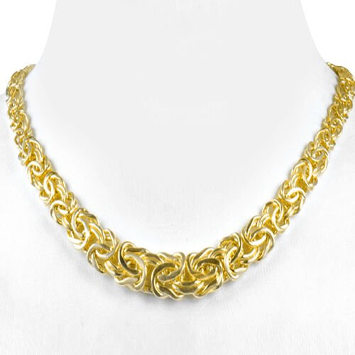 DOD - Designer Inspired - 9K Yellow Gold Byzantine Necklace (Size 17 with 3 inch Extender), Gold wt 11.40 Gms.
