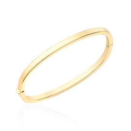 Italian Made Close Out- 9K Yellow Gold Designer Bangle (Size 7), Gold wt 6.80 Gms